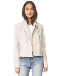 Cupcakes And Cashmere Joslyn Washed Vegan Leather Moto Jacket