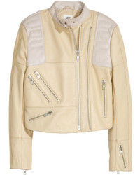 purchase cheap save up to 60% large assortment Women's Beige Leather Jackets by H&M | Women's Fashion ...