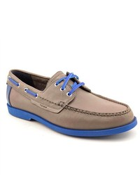Cole Haan Fire Island Boat Gray Leather Boat Shoes