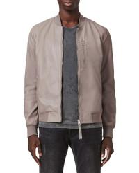 AllSaints Kiro Leather Bomber Jacket