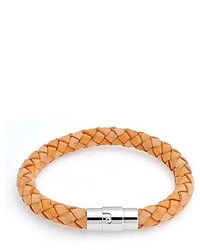 Bling Jewelry Bling Jewelry 8mm Beige Braided Unisex Round 8mm Leather Cord Bracelet 8 Inch