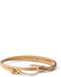 Miansai Leather And Gold Plated Hook Bracelet