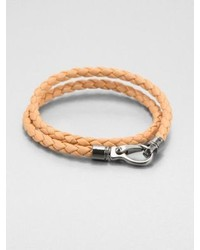 Leather double wrap bracelet medium 248356