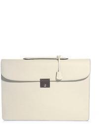 Beige Leather Briefcase
