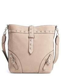 Rose leather bucket bag beige medium 3760864
