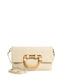 Sole Society Ardel Faux Leather Clutch