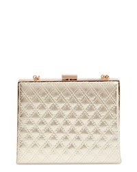 Leith Diamond Quilt Box Clutch