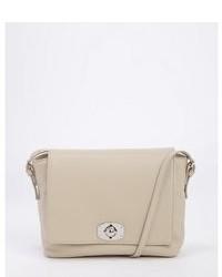 Furla Beige Leather Fold Over Crossbody Bag