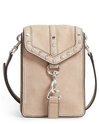 Biker phone crossbody bag brown medium 3772939