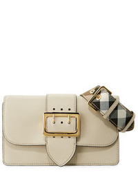 8f50e8d1e5d1 ... Burberry Buckle Small Leather Shoulder Bag Limestone