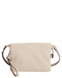 Vince Camuto Cami Leather Crossbody Bag Beige