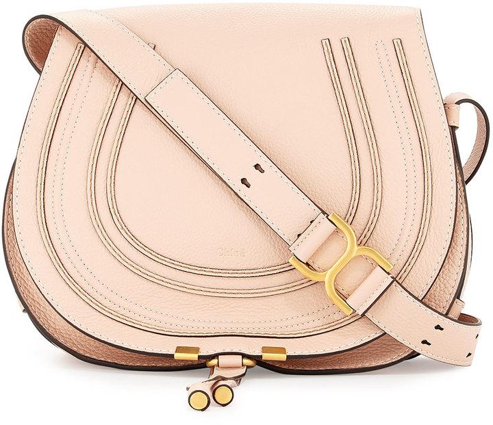 ... Leather Crossbody Bags Chloé Chloe Marcie Medium Horseshoe Crossbody  Satchel Bag Blush Nude ... 2fd0f1134a85f
