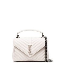 Saint Laurent Cream Lou Lou Medium Leather Shoulder Bag