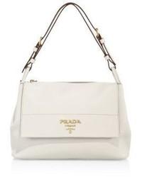 Prada Daino Leather Flap Shoulder Bag