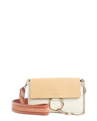 Chloé Faye Colorblock Leather Shoulder Bag