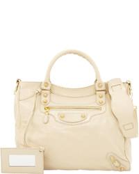 Balenciaga Giant Velo Crossbody Bag Beige