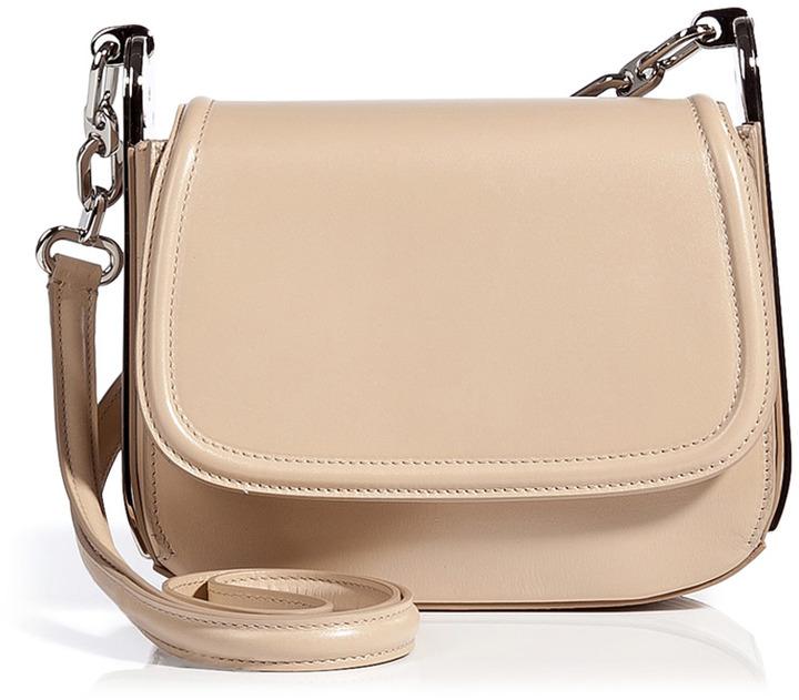 Beige Leather Crossbody Bags Salvatore Ferragamo Adele Bag