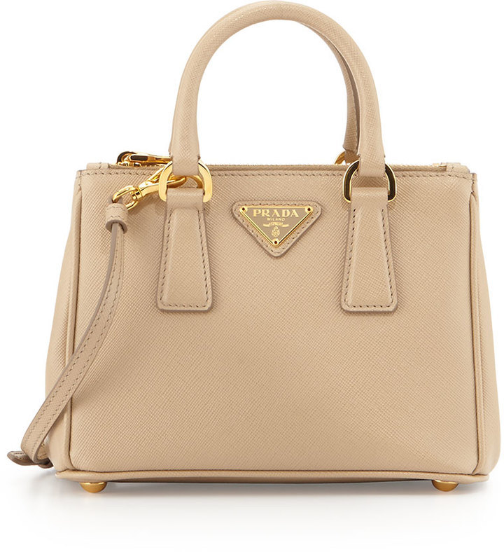 3523bfc576 ... coupon for prada saffiano mini galleria crossbody bag beige 83d9c 4ac9a