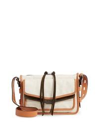 Rag & Bone Small Field Canvas Leather Messenger Bag