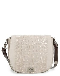 Brahmin Wilmington Sonny Nubuck Leather Crossbody Bag Metallic