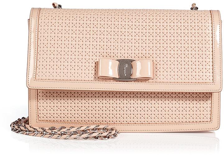 ed7004fe0 Salvatore Ferragamo Woven Leather Ginny Crossbody Bag, $945 | STYLEBOP.com  | Lookastic.com