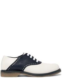 Bottega Veneta Two Tone Leather Derby Shoes