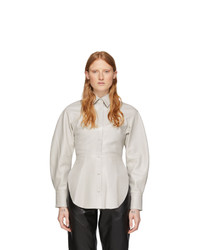 Isabel Marant Off White Leather Xiao Shirt