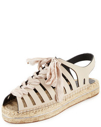 Rebecca Minkoff Gemma Leather Espadrille Sandal