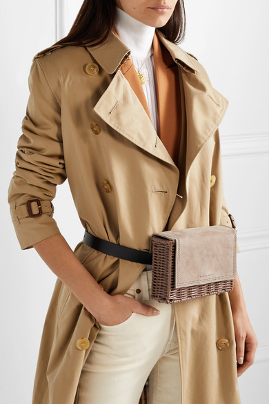 ded26171 Tao Rattan Suede And Leather Belt Bag