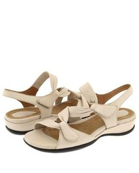 Clarks Lucena Sandals Beige Leather