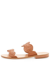 Jack Rogers Lauren Double Strap Sandal Cognac