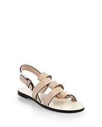 Jil Sander Leather Slingback Sandals Nude