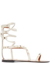 Valentino Ivory Gladiator Rockstud Sandals