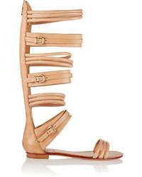 Schutz Leather Gladiator Sandals