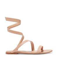 Gianvito Rossi Opera Leather Sandals