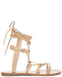 Raye Sage Sandal In Beige Size 10