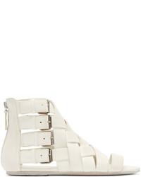Marsèll White Braided Gladiator Arsella Sandals