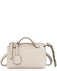 Fendi By The Way Mini Crystal Croc Tail Satchel Bag White