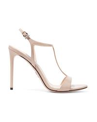 Prada 105 Glossed Leather Sandals