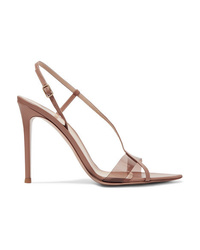 Gianvito Rossi 105 Leather And Pvc Sandals