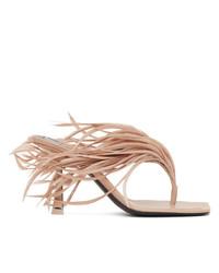 Alexander Wang Beige Feather Ivy Heeled Sandals