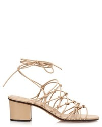 Chloé Chlo Multi Strap Block Heel Leather Sandals