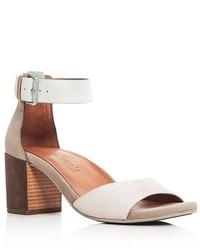 Gentle Souls Christa Suede Ankle Strap Block Heel Sandals