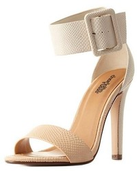 Charlotte Russe Color Block Ankle Strap Heels | Where to buy & how ...