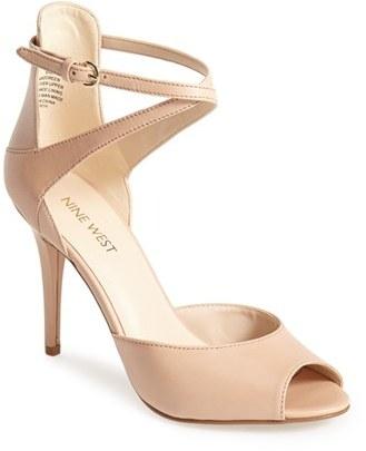 diseño de calidad e7cd2 ade5b $88, Nine West Doreen Leather Ankle Strap Sandal