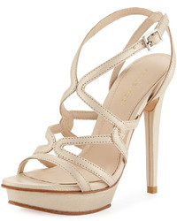 Pelle Moda Farah 2 Strappy Leather Sandal Cream