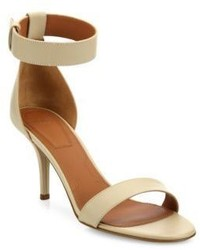 Givenchy Infinity Line Leather Ankle Strap Sandals