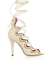 Isabel Marant Lelie Snake Effect Leather Sandals