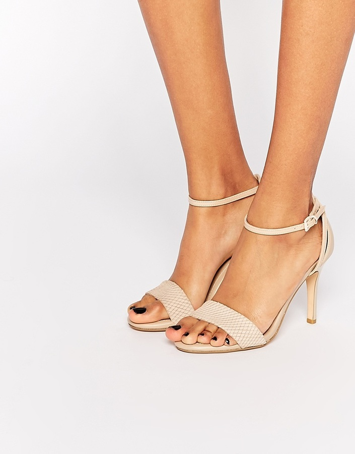 c9452d96f0d2 ... Dune Madeira Nude Snake Effect Barely There Heeled Sandals ...