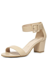 Dorothy Perkins Nude Leather Sandals